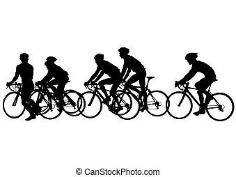 Un ciclista en bicicleta