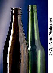 Un cierre de botella de cristal