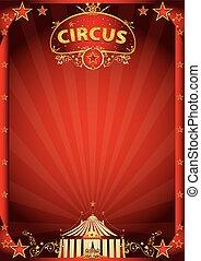 Un circo rojo fantástico