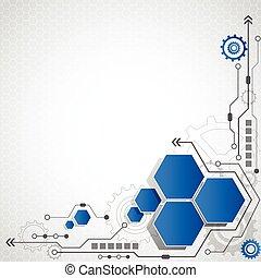 Un circuito futurista de alta tecnología informática... ilustración de vectores de fondo