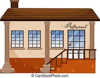 Un clásico edificio de restaurantes