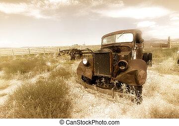 Un coche oxidado