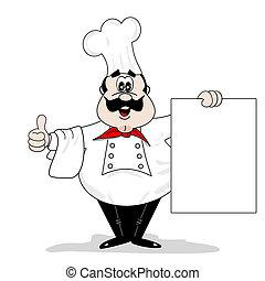 Un cocinero de caricaturas