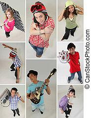 Un collage de adolescentes