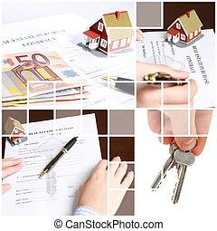 Un collage de bienes raíces.
