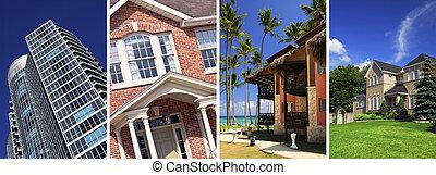 Un collage de bienes raíces