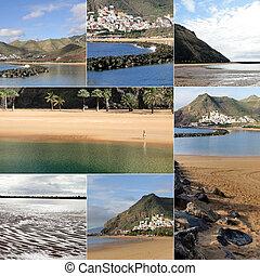Un collage de paisajes