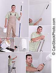Un collage de pintor