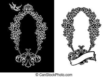 Un color de corona real y vertical corona heráldica.