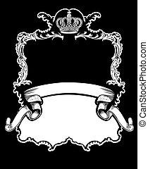 Un color de curvas de corona real