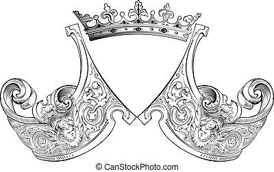 Un color de la composición de la corona