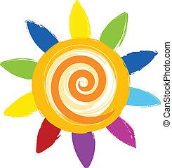 Un colorido icono solar