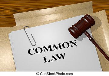 Un concepto común de ley