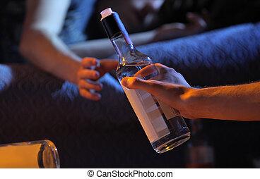 Un concepto de adicción al alcohol