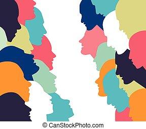 Un concepto de conversación. Perfil de personas en la discusión.