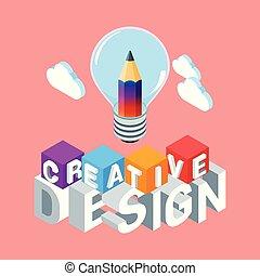 Un concepto de diseño creativo isométrico