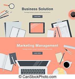 Un concepto de diseño plano para los negocios