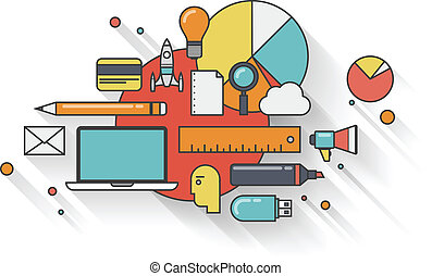 Un concepto de ilustración de negocios moderno