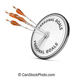 Un concepto de negocios, metas personales