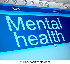 Un concepto de salud mental.