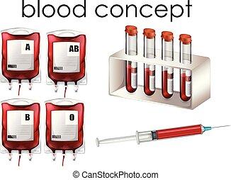 Un concepto de sangre sobre fondo blanco