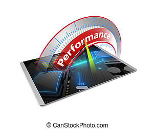 Un concepto de tableta de alta rendimiento
