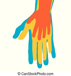 Un concepto familiar con siluetas de manos