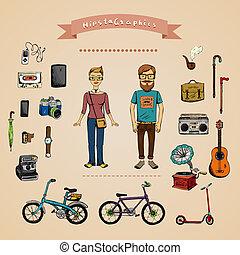 Un concepto informativo hipster