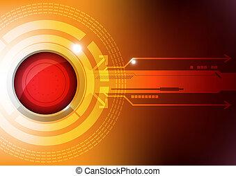 Un concepto moderno de tecnología de botones