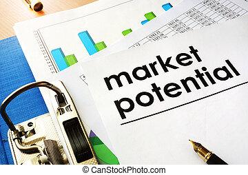 Un concepto potencial de mercado.