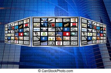 Un concepto técnico de la televisión multimedia