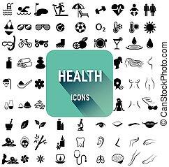 Un conjunto de íconos de salud