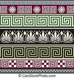 Un conjunto de adornos griegos antiguos