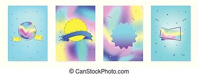 Un conjunto de antecedentes abstractos. Ilustración de vectores.