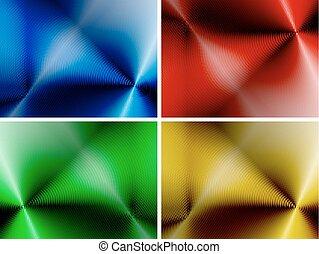 Un conjunto de antecedentes abstractos multicolores