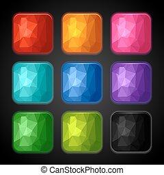 Un conjunto de antecedentes geométricos para los íconos.