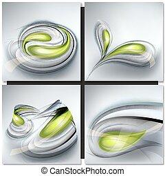 Un conjunto de antecedentes grises abstractos