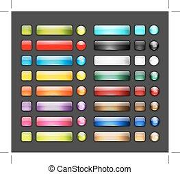 Un conjunto de brillantes iconos para tu diseño