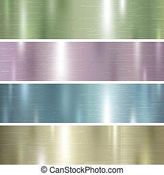 Un conjunto de color pastel textura de color metal ilustración vectorial de fondo