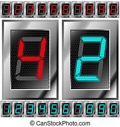 Un conjunto de dígitos electrónicos
