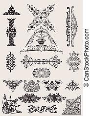 Un conjunto de diferentes diseños de estilo