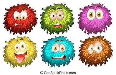 Un conjunto de diferentes expresiones faciales