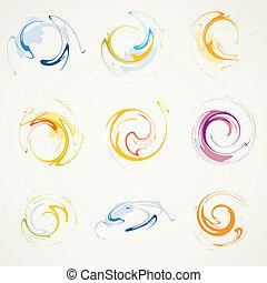 Un conjunto de elementos abstractos