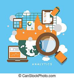 Un conjunto de elementos analíticos de diseño plano