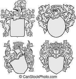 Un conjunto de emblemas aristocráticos No1