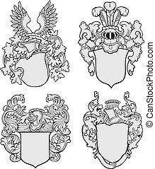Un conjunto de emblemas aristocráticos No3
