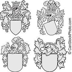 Un conjunto de emblemas aristocráticos No4