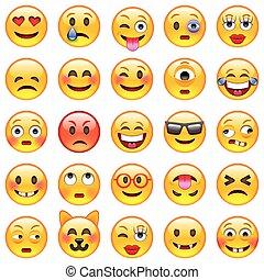 Un conjunto de emoticonos. Un conjunto de emoji