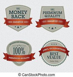 Un conjunto de etiquetas de calidad