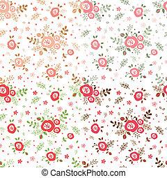 Un conjunto de flores sin costura
